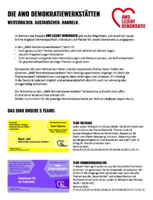 AWO Demokratiewerkstätten 2021 Informationsblatt