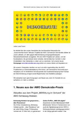 Gemeinsam Demokratie stärken in der AWO – Newsletter 1-2021